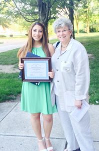 Aliki Socratous wins the New Jersey Distinguished Student Teacher Award